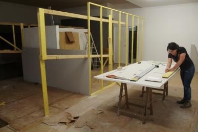 Construction de l'exposition
