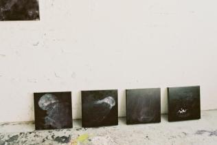 médusés c40-5-8 huile sur toile, 4x (40 x 40 x 5 cm), 2007