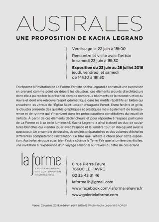 Invitation Australes Kacha Legrand La Forme Le Havre (glissé(e)s)